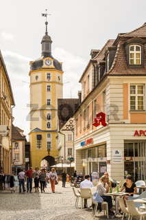 People at the Herrieder Tor in Ansbach