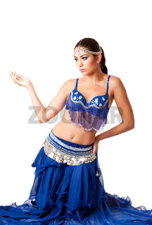 Fashion Belly dancer sitting on knees