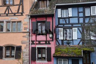 Fachwerk-Architektur im Elsass