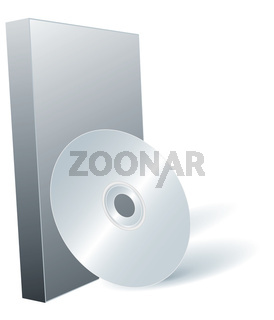 Disk DVD and box.