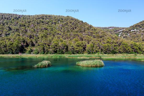 National Park Krka and River Krka near Town of Skradin, Croatia