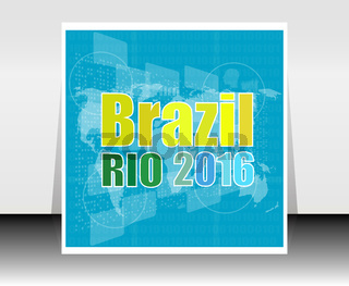 Vector Brazil Rio Summer Games 2016. Flat design graphic clip art abstract illustration.