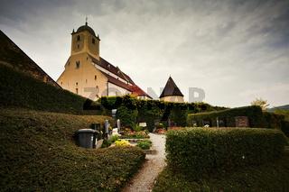 gotische Gertrudskirche in Gars/Thunau, Waldviertel, Niederösterreich, Österreich, Europa / Gothic church in Gars/Thunau, Waldviertel Region, Lower Austria, Austria, Europe