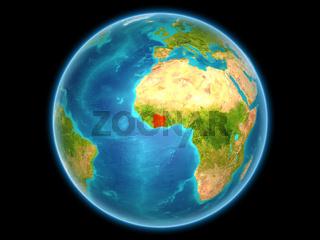 Ivory Coast on planet Earth