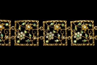 diamond necklace on black background