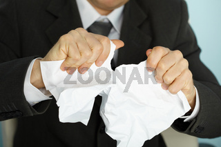 Businessman violently tormented a paper