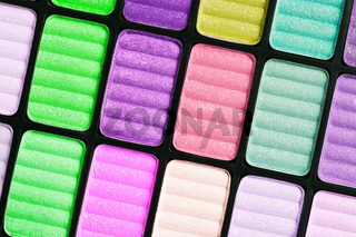 Part of the colorful palette for makeup closeup