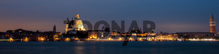 Panorama by night of venice, city in Italy