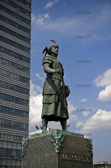 Monument to Marco Polo, Ulaanbaatar, Mongolia