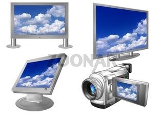 Videokamera mit TV Geräten