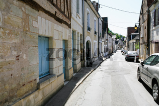 residential houses and cars on street in Amboise
