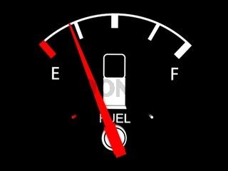 three dimensional  fuel  gauge