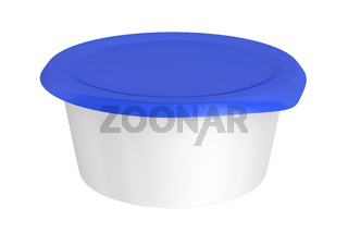 Round plastic packaging