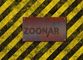hazard stripes plaque