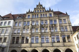 Renovierte Häuserfassade in Görlitz, Deutschland