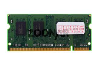 computer memory on white macro