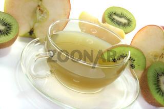 Kiwi-Apfel-Tee