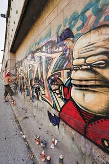 Graffiti Maler in Wien / graffiti painter in Vienna
