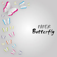 Butterfly card colorful