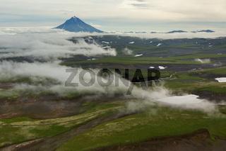 Vilyuchinsky stratovolcano. South Kamchatka Nature Park.