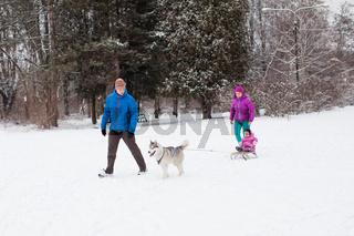 Family winter sports