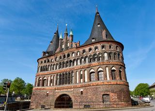 Holstentor, Stadtseite, Lübeck, Deutschland