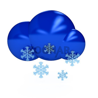 Weather symbol over white background