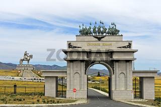 Eingangsportal zum Dschingis Khan Themenpark, Tsonjin Boldog, Mongolei