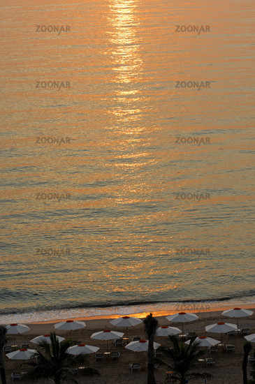 The morning sun on the Gulf of Oman