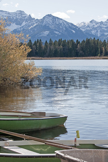 Ruderboote am Hopfensee / lake Hopfen