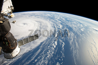 Hurricane Harvey fom Space Station. Elements of this image are furnished by NASA