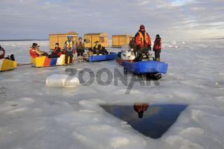 Eisloch zumm Eistauchen, icehole for ice diving