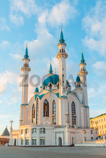 Kul-Sharif mosque in Kazan Kremlin At sunset in Tatarstan, Russia