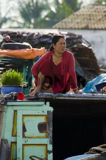 Schwimmender Markt - Mekong, Vietnam