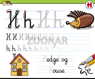 how to write letter h