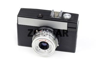 Classic film camera isolated