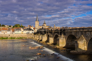 La Charite-sur-Loire - La Charite-sur-Loire in Burgundy, town and river Loire