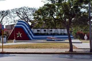 Cuban flag transformed into concrete monument