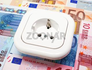 Energie Kosten mit Euros