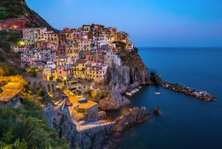 View of Manarola village , Cinque Terre , Italy