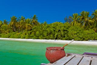 Jetty on Maldives island