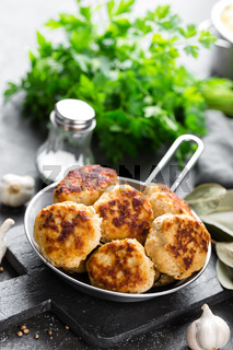 Cutlets, meatballs