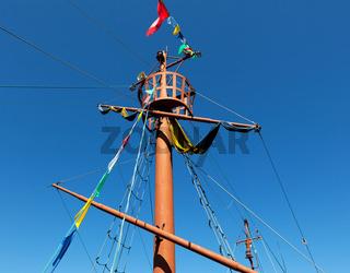 Ancient ship mast