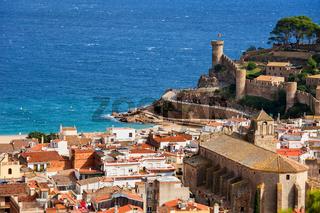 Coastal town of Tossa de Mar on Costa Brava in Catalonia