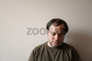 depressed man in his forties