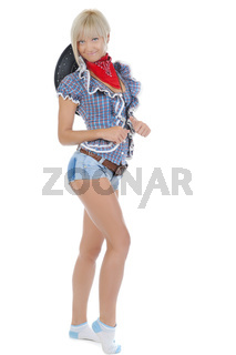 Young beautiful cowgirl