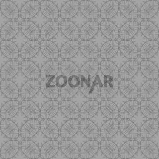 Grey Ornamental Seamless Line Pattern