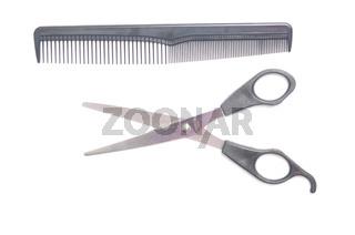 scissors, comb