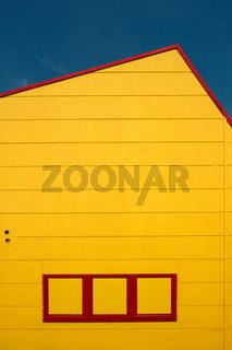 Gelbe Hausfassade