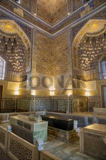 Interior of the mausoleum Guri Amir